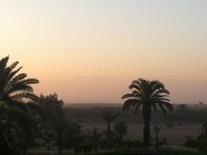Sunrise in Marrakech.