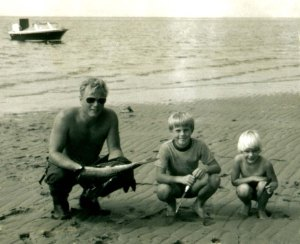 Fishing for blues off Cape Cod, about 1977