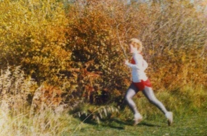 Racing on our home course at 15 years old.